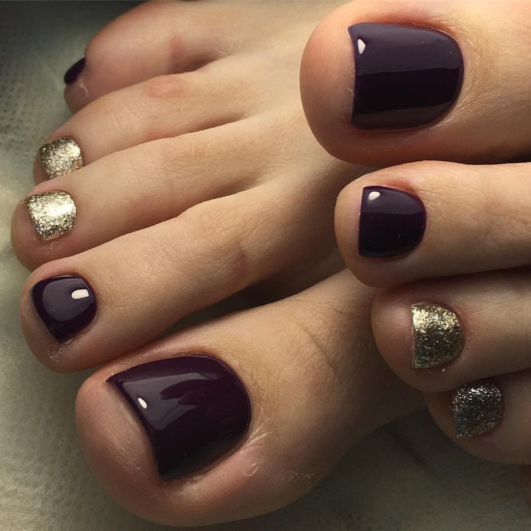 Pin By Vlmli On Unas Pies Fall Toe Nails Summer Toe Nails Pretty Toe Nails
