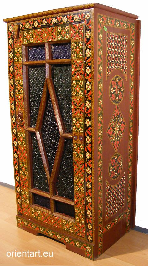 Orientalische Kommode details zu antik orient vertikos vitrine kommode schrank afghanistan
