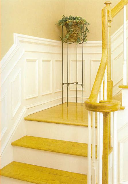 transition to landing | Wainscoting & Molding | Pinterest ...
