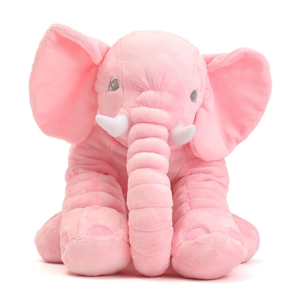 45x23x53 Cm Pink Large Elephant Pillows Cushion Baby Plush Toy  # Muebles Sirena Animal Crossing