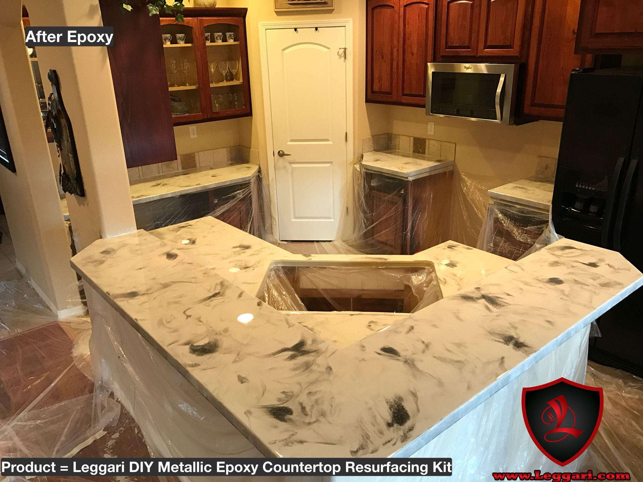 Metallic Epoxy Countertop Coating Using Leggari Products Product Info At End Of Video Epoxy Countertop
