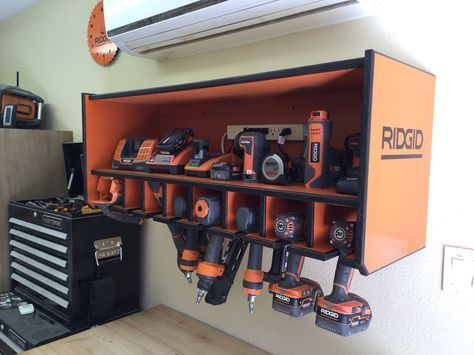 Ridgid Lover Cordless And Air Tool Hanger And Storage More