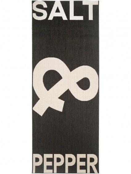 Küchenläufer Salt \ Pepper Schwarz\/Weiß 80x200 cm #benuta #teppich - küche schwarz weiß