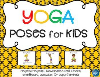 yoga poses for kids  digital  distance learning