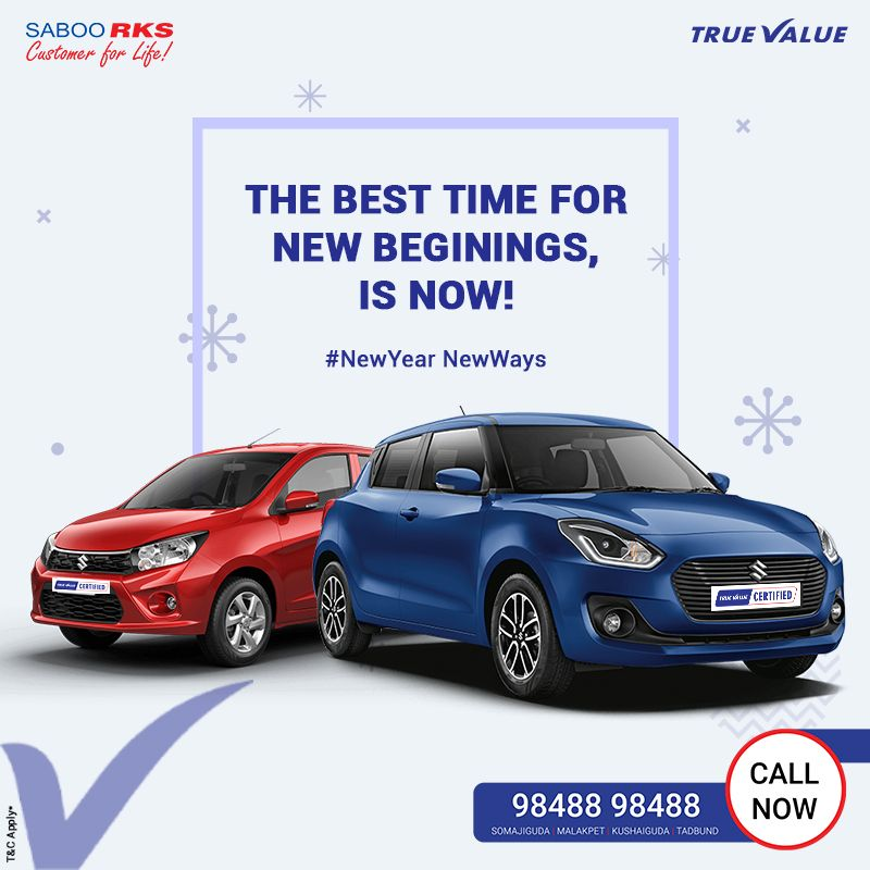 The best time for new beginings, is now! Car advertising