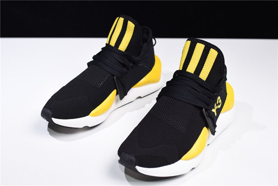 43dad1e30bb15 adidas Y-3-kaiwa Chunky Primeknit Black Yellow-White AQ2931 in 2019 ...
