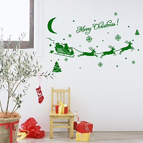 Funnycraft christmas decoration decal window stickers home decor green click image for more