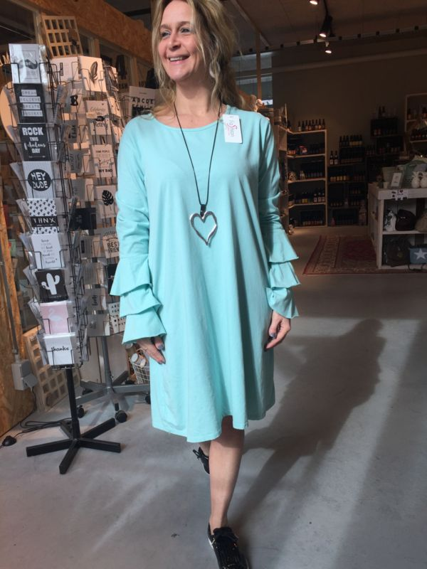 93ac04fab30 Jurk flamingo mouw mint | Nieuw Binnen bij ladies fashion yess-style ...