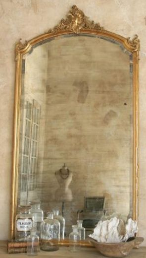 French mirror want an oversized mirror like this it 39 s for Gold frame floor mirror