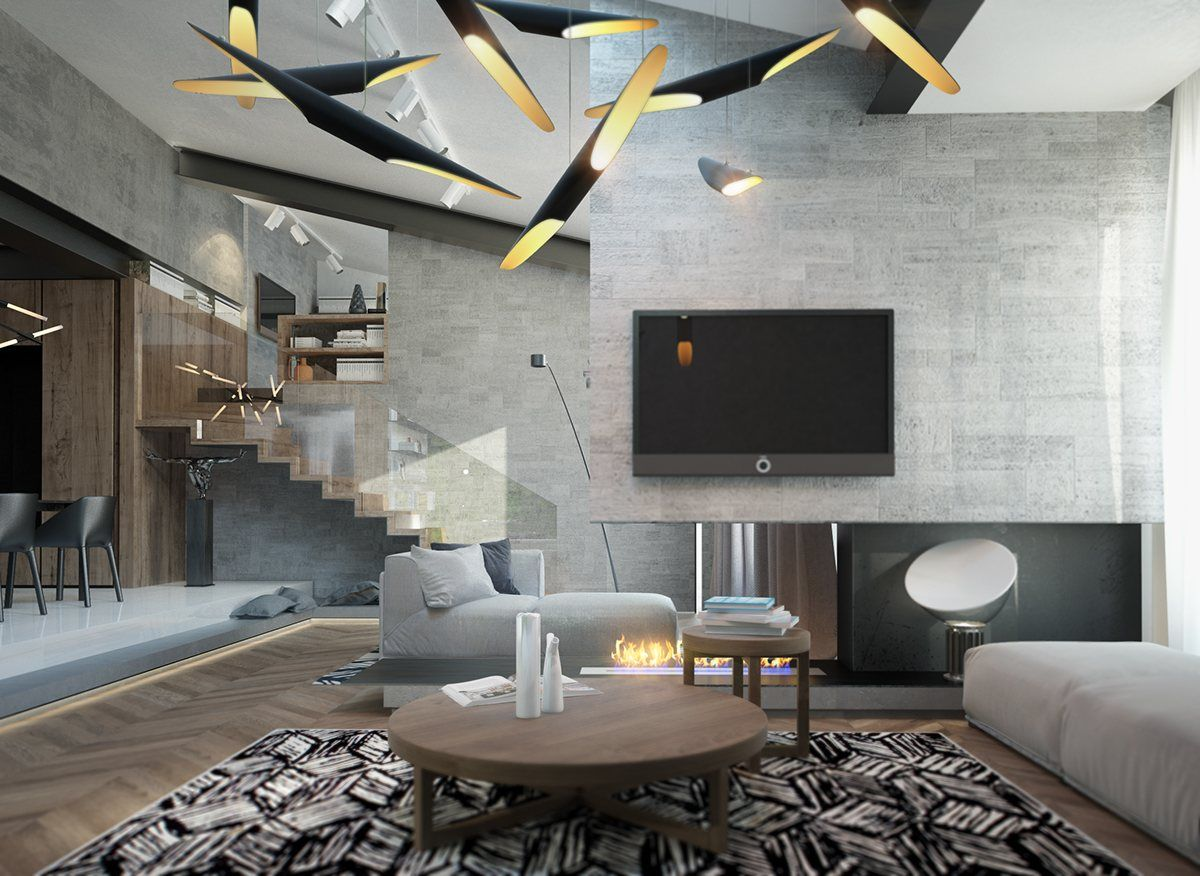 Marvelous Homes With Inspiring Wall Treatments And Designer Lighting