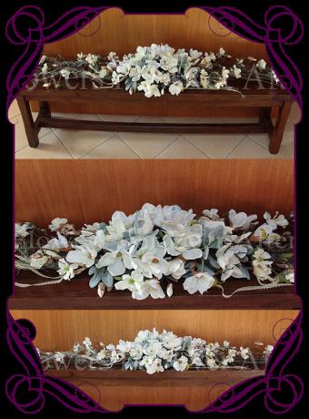 Silk Magnolia And Vine Rustic Wedding Garland For Hire Melbourne Decorations Decor Pinterest