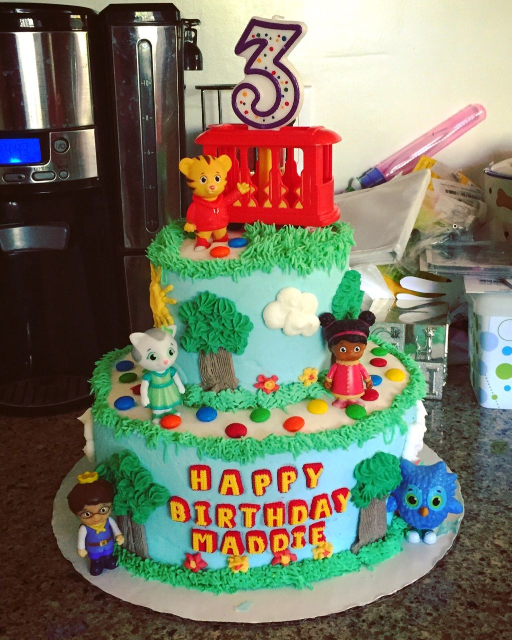 Birthday Cake Images For Daniel : Daniel Tiger birthday cake! I m not a professional. Anyone ...