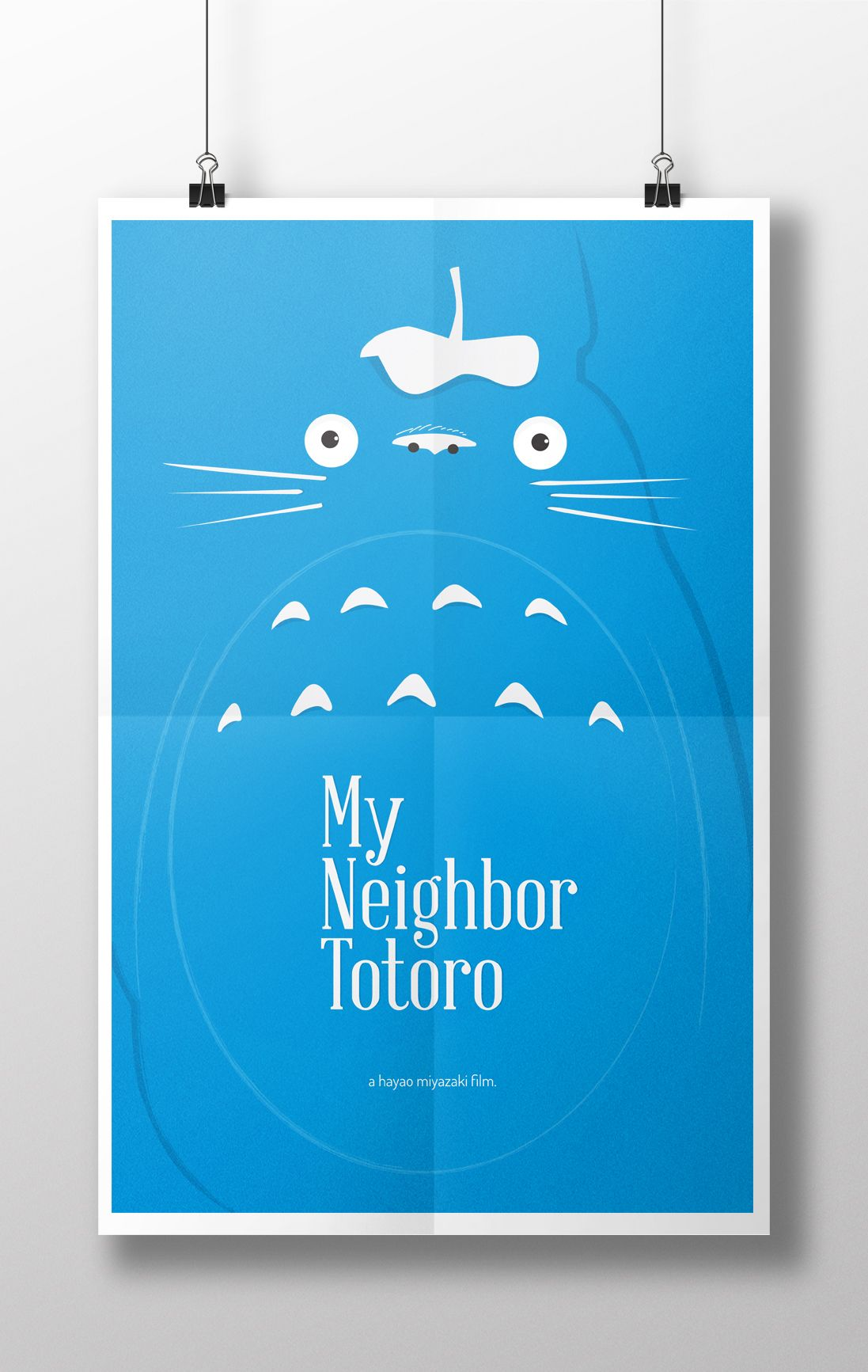 11x17 poster design - My Neighbor Totoro Minimalist Poster Design