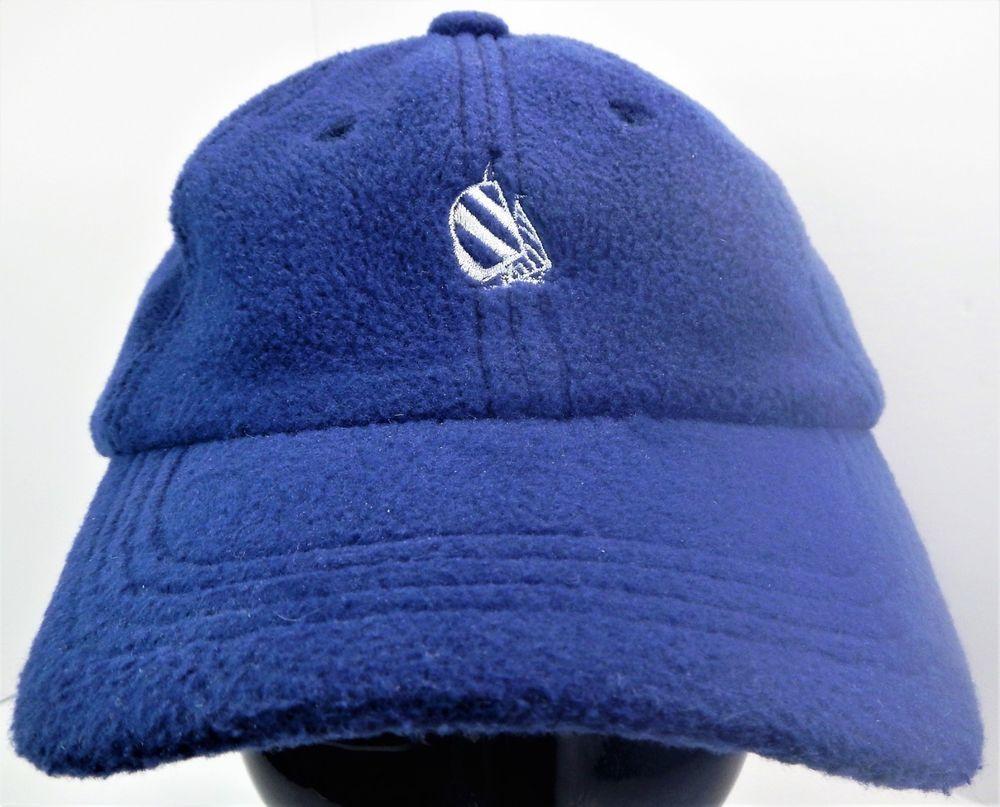b4a6981a Vintage NAUTICA NAUTECH Fleece Strapback Dad Hat Blue One Size Fits Most # Nautica #LowProfile