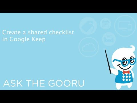 Create A Shared Checklist With Google Keep The Gooru Google - shared spreadsheet