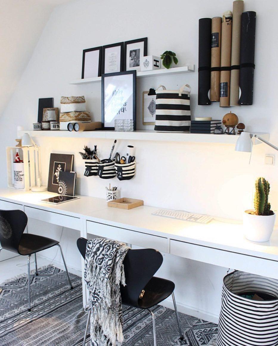 Arbeitsplatz Im Wohnzimmer Einrichten Ikea Gestalte Dir: Home Office Arbeitsplatz Inspirationen