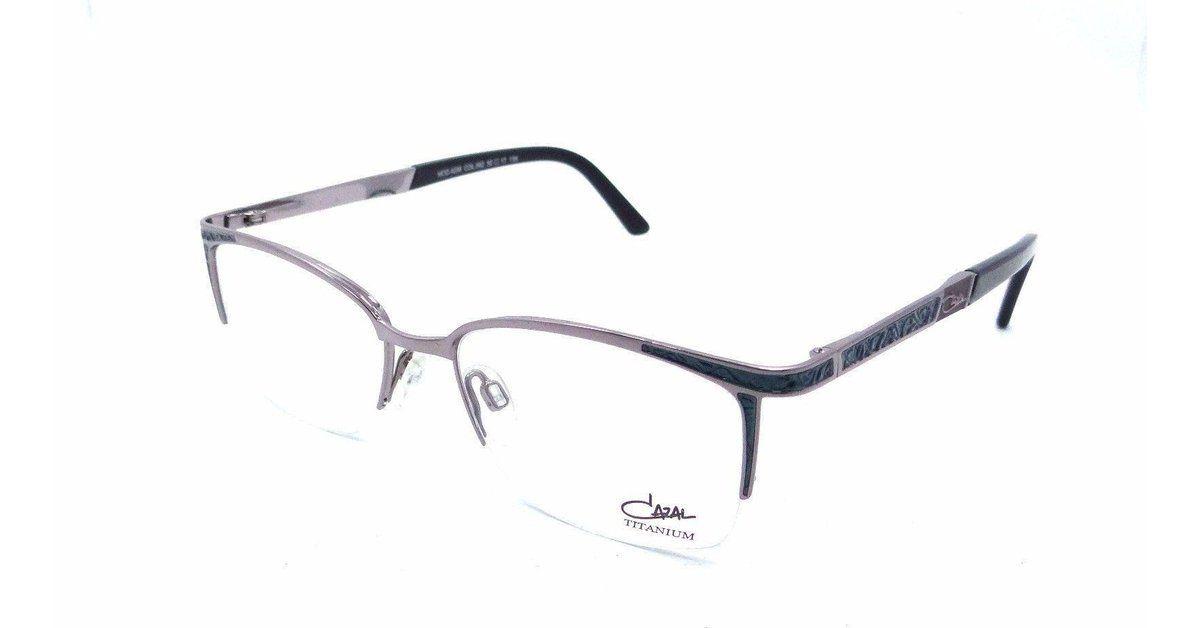 5cb63f884fa Cazal Rx Eyeglasses Frames 4206 002 52x17 Rose Gunmetal Aqua Titanium  Germany