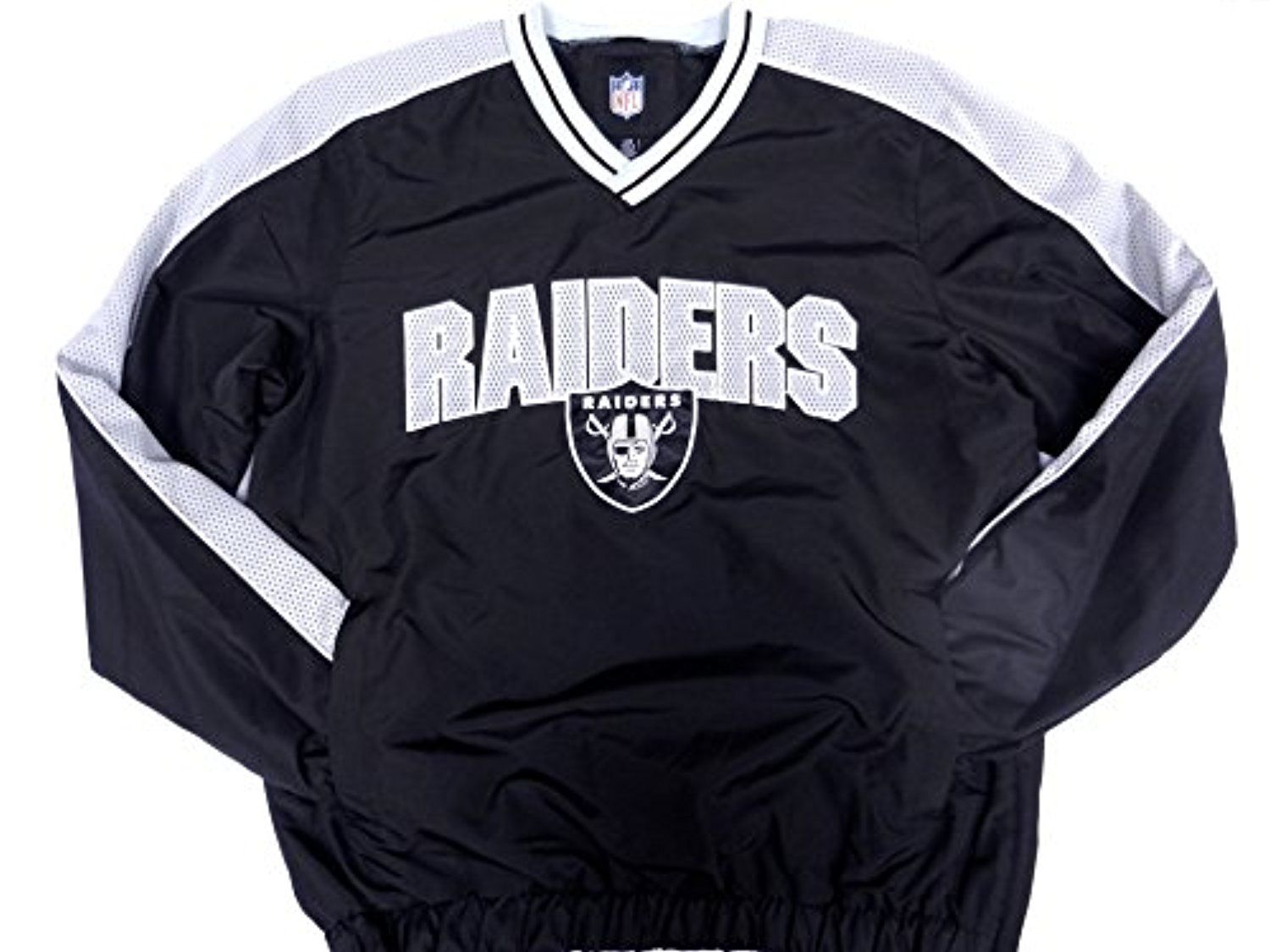 05540acb Official Licensed NFL Oakland Raiders windbreaker pullover jacket ...