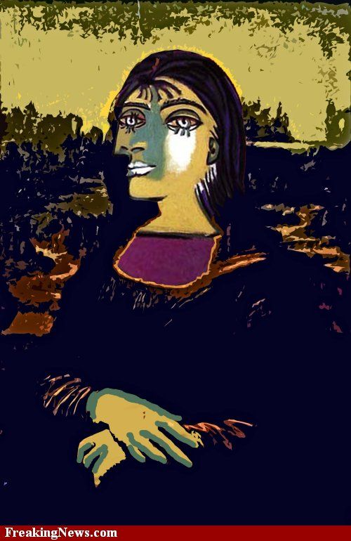 By Picasso I Did One Of His Paintings Mona Lisa Mona Friends Mona
