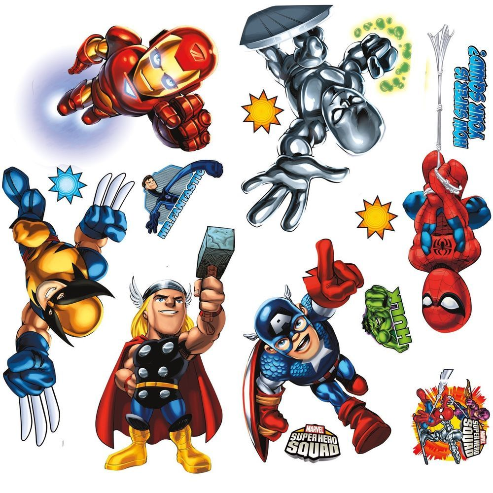Baby super heroes buscar con google super heroes pinterest roommates marvel super hero squad peel and stick wall decals amipublicfo Gallery