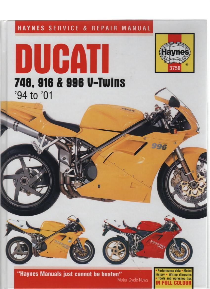 Ducati 748, 916 & 996 Service and Repair Manual from Haynes