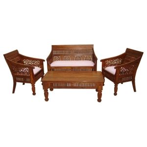 Sofa Sets Buy Sofa Set Couch Online In India At Best Price Wooden Sofa Set Designs Carved Sofa Sofa Set Designs