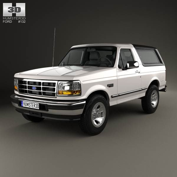 3d Model Of Ford Bronco 1992 Camionetas Coches Chulos Camion Ford