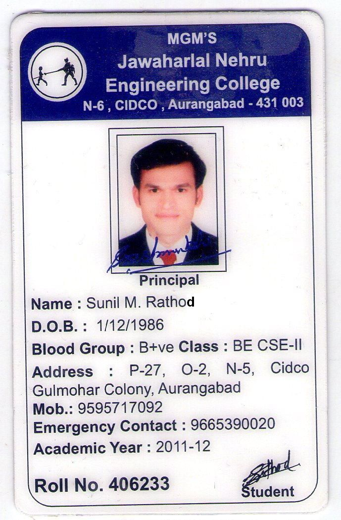 By Sunil Rathod  Id Card Of The Year