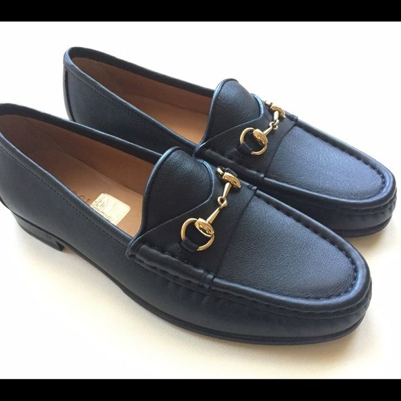 f7b4a64e8 Authentic Gucci loafers BNWB, never worn. Black leather with gold horsebit  hardware. European size 5, equivalent to US sz 5.5/6. Gucci Shoes Flats &  Loafers