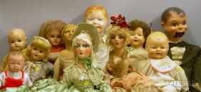 Eleven Large Composition Dolls, Various Makers,