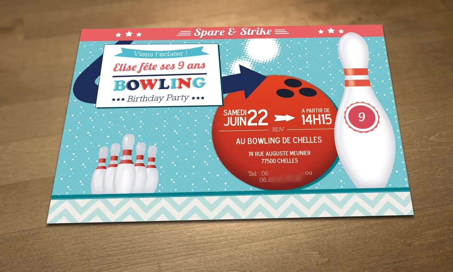 personalized printable birthday invitation theme bowling emilieparty invitations birthday. Black Bedroom Furniture Sets. Home Design Ideas