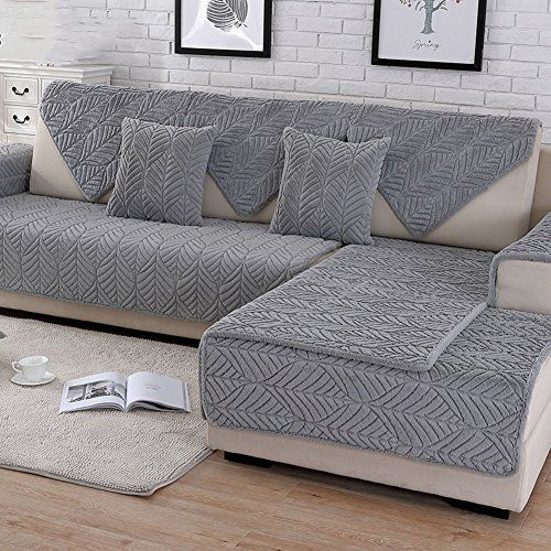Hm Dx Plush Sofa Slipcover Thick Quilted Anti Slip Stain Resistant Multi Size Sofa Cover Prot In 2020 Sectional Couch Cover Slipcovered Sofa Sofa Covers
