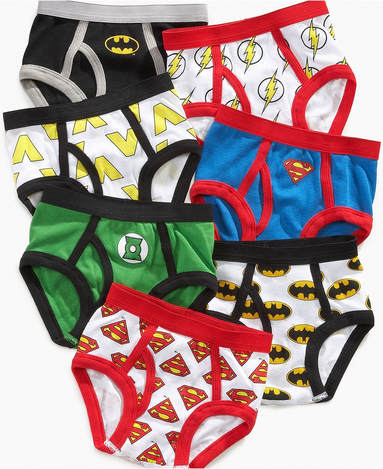 957ec1554d Justice League Kids Underwear, Toddler Boys 7 Pack Briefs - Kids - Macy's
