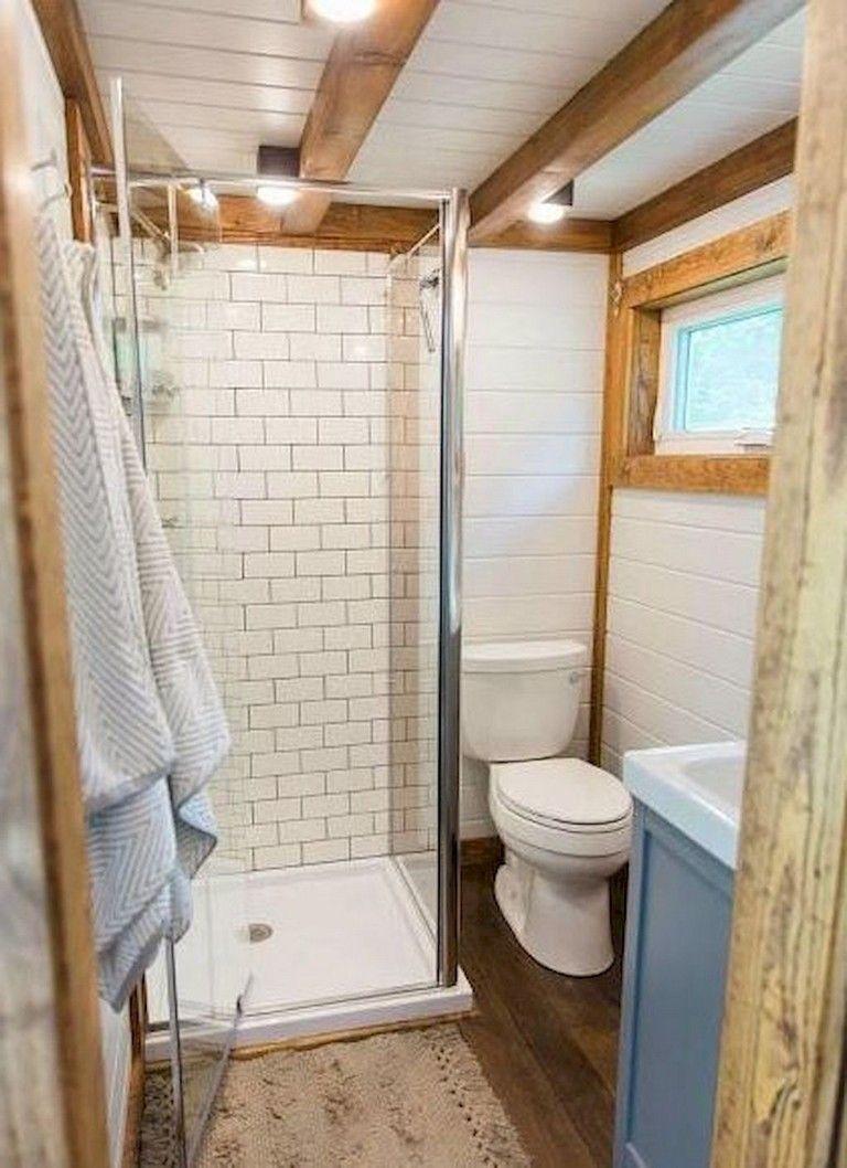 70 Amazingly Tiny House Bathroom Shower Ideas Tiny House Bathroom Tiny Bathrooms Bathroom Shower Design