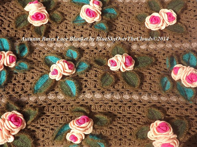 Ravelry: Autumn Roses Lace Blanket pattern by Barbara Carlettini