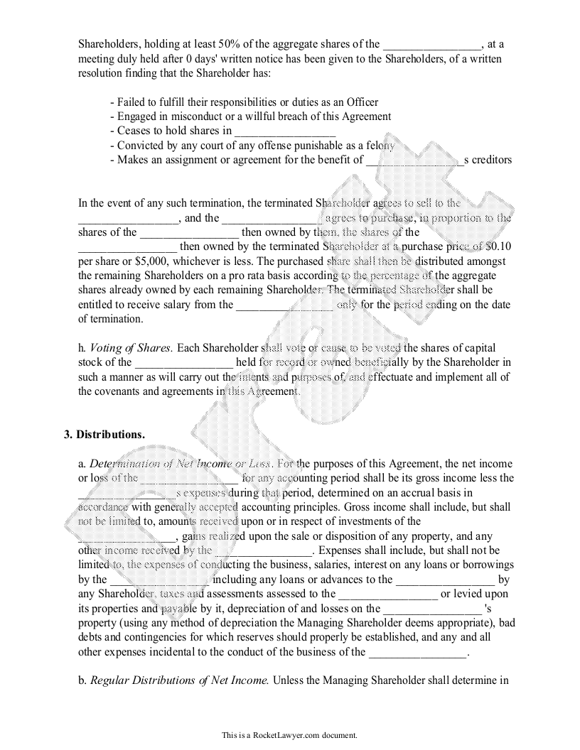 Investors Agreement  Investor Contract Agreement Form With