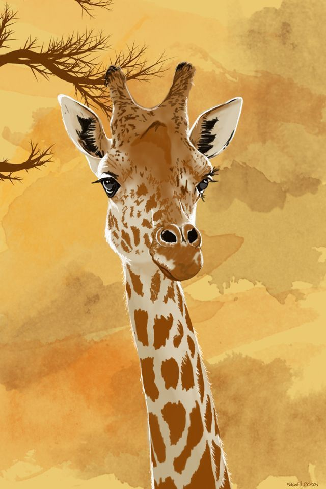 giraffe painting print on canvas etsy page pinterest giraffen und malen. Black Bedroom Furniture Sets. Home Design Ideas
