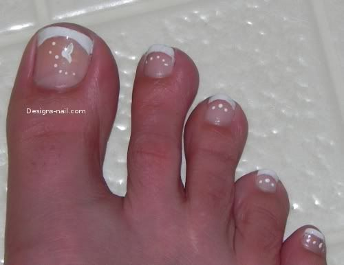 pretty feet with french manicure - Google Search