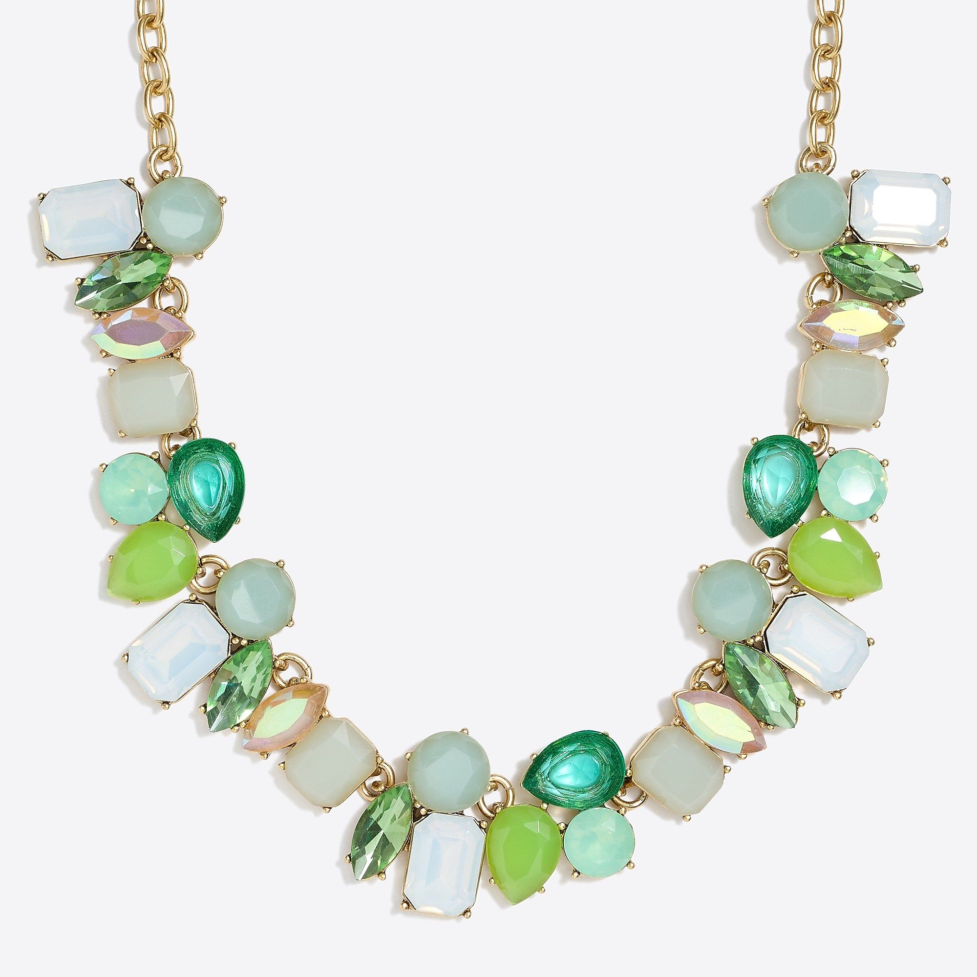 Sea glass crystal collage necklace in jewelry pinterest