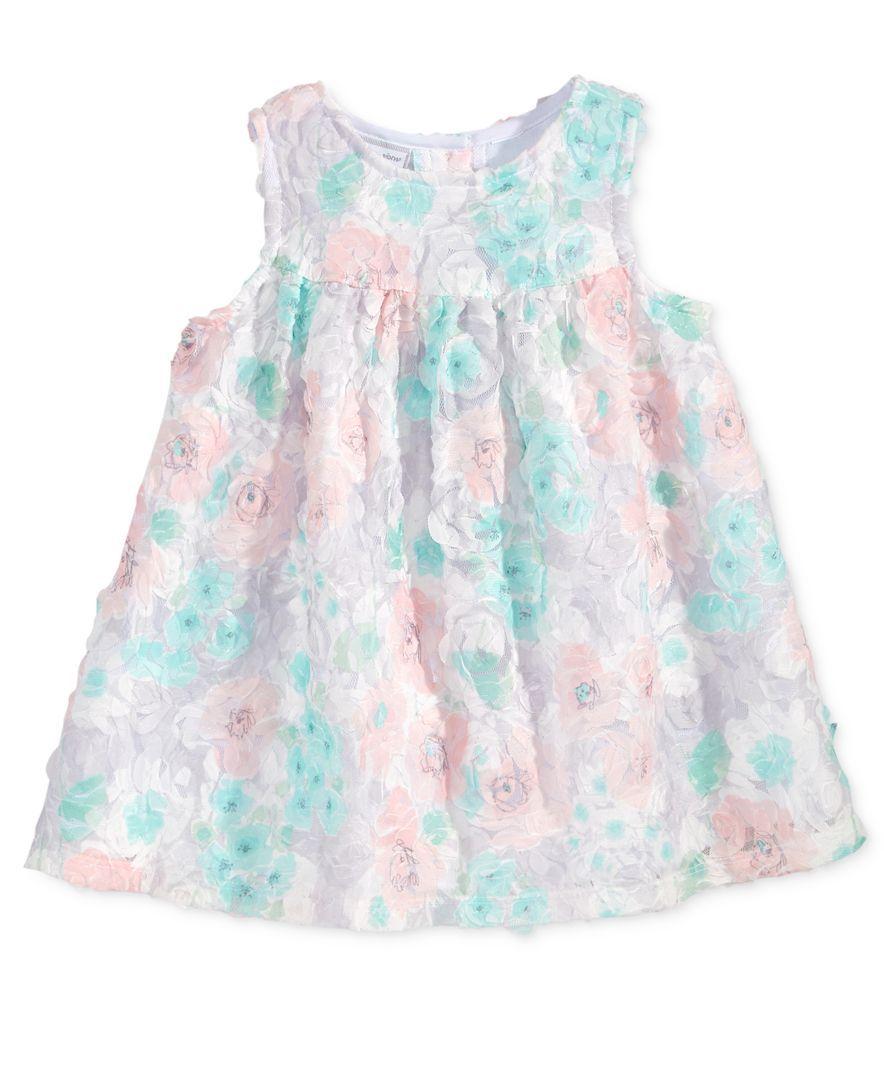 10be6eb05a9f First Impressions Empire-Waist Rosette Dress