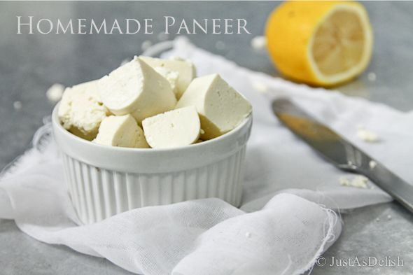 2 Ingredient Homemade Paneer (Indian Cottage Cheese)   Used In Indian  Dishes Ranging From Curries To Desserts. Just Milk U0026 Lemon Juice To Make  Your Own ...