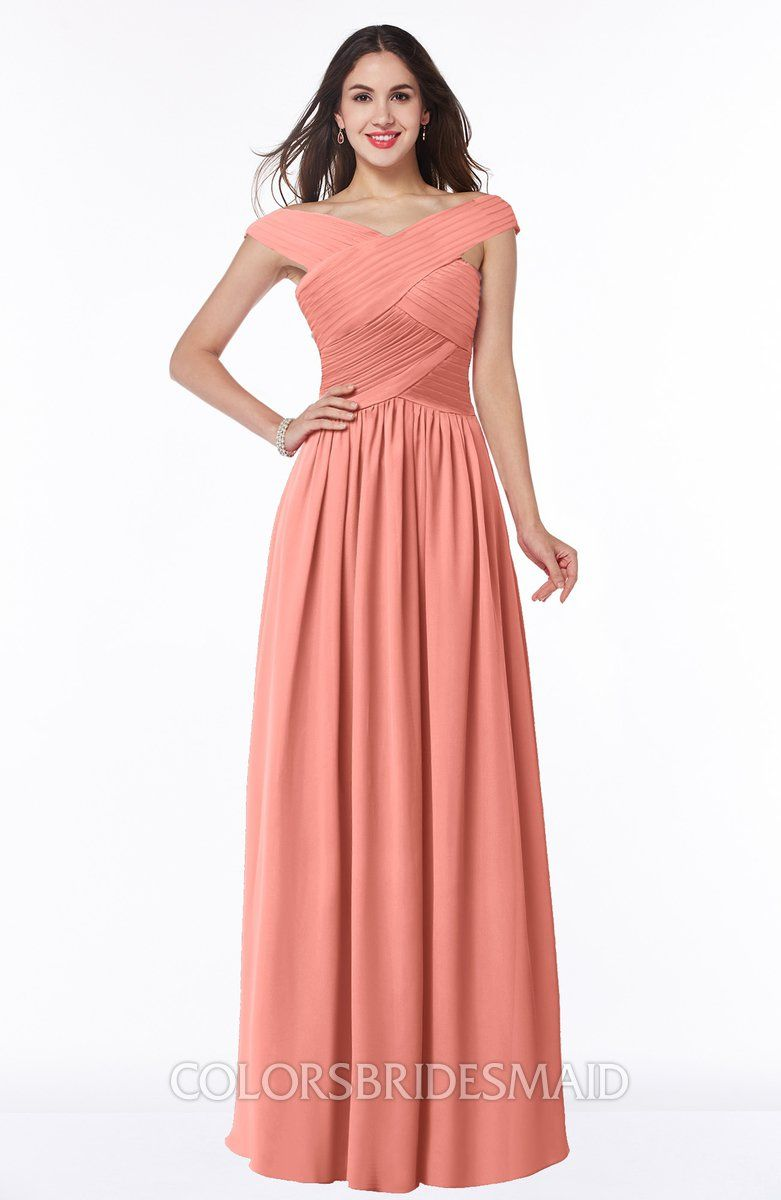 fc9259bb1ec4 ColsBM Wendy Classic A-line Off-the-Shoulder Sleeveless Zip up Floor Length  Plus Size Bridesmaid Dresses #colsbm #bridesmaids #bridesmaiddress  #weddings .