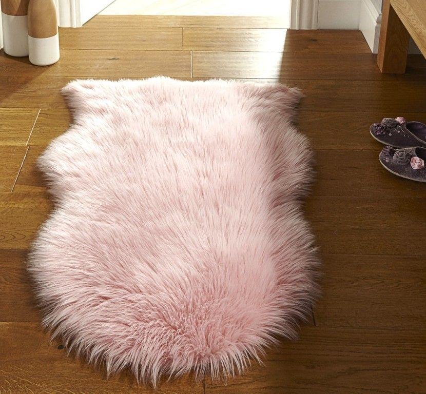Faux Fur Pink Rug Modern Rugs