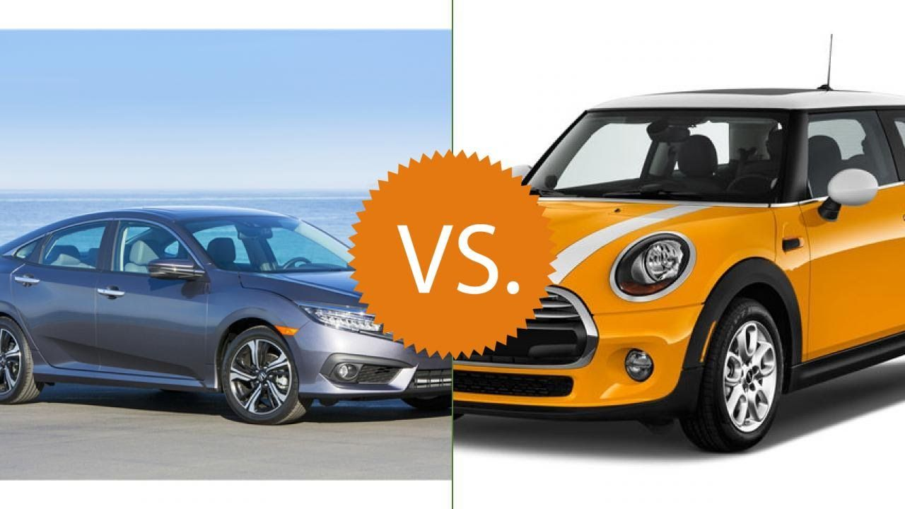 Compare 2016 Honda Civic Vs Mini Cooper