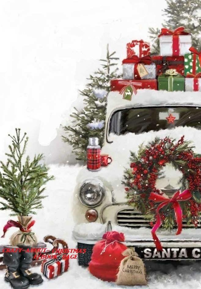 Stunning Illustration for Christmas #Car / Fantastica Illustrazione per Natale #Macchina - (by The Jonny Javelin Card Company Ltd) More