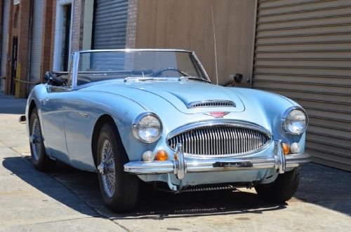 1966 austin healey 3000 mk iii phase ii silver blue with blue interior owned by the same. Black Bedroom Furniture Sets. Home Design Ideas