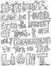 quotes coloring pages for \