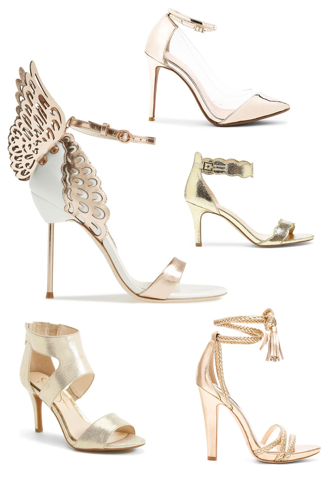 48212f17af8a The best metallic heels for events + everyday Bridal Heels