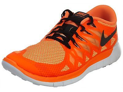 Nike Free 5.0 Mens 642198-802 Orange Black Athletic Running Shoes Size 11