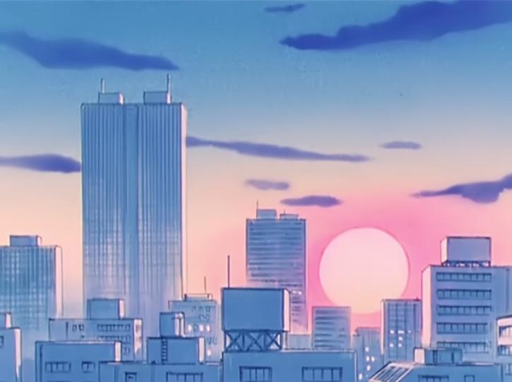 Theme Anime Aesthetic Anime City Background